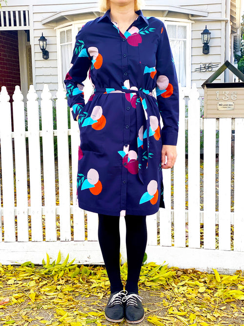 Long sleeve shirt dress - Landscape