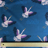 Soaring Crane - Cotton Twill fabric by the half metre