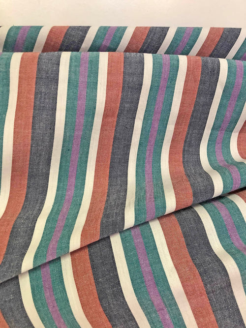 Yarn Dyed Stripe - 100% Cotton fabric by the half metre