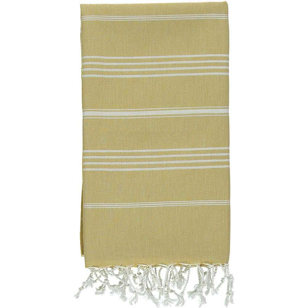 Yellowish 100% Cotton Turkish Towel