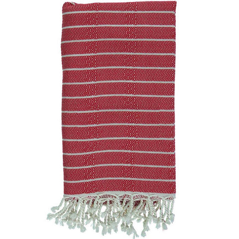 Red Bamboo & Cotton Turkish Towel