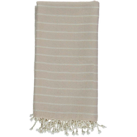Beige Bamboo & Cotton Turkish Towel
