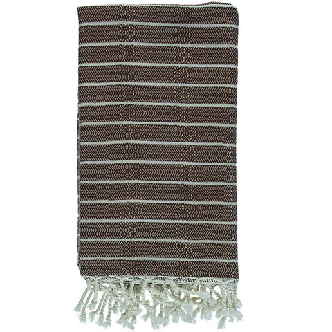 Brown Bamboo & Cotton Turkish Towel