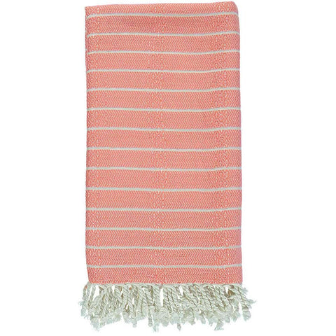 Salmon Bamboo & Cotton Turkish Towel