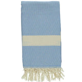 Light Blue Bamboo & Cotton Turkish Towel