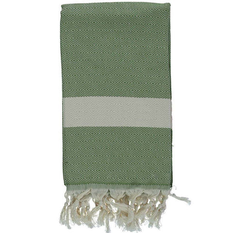 Green Bamboo & Cotton Turkish Towel