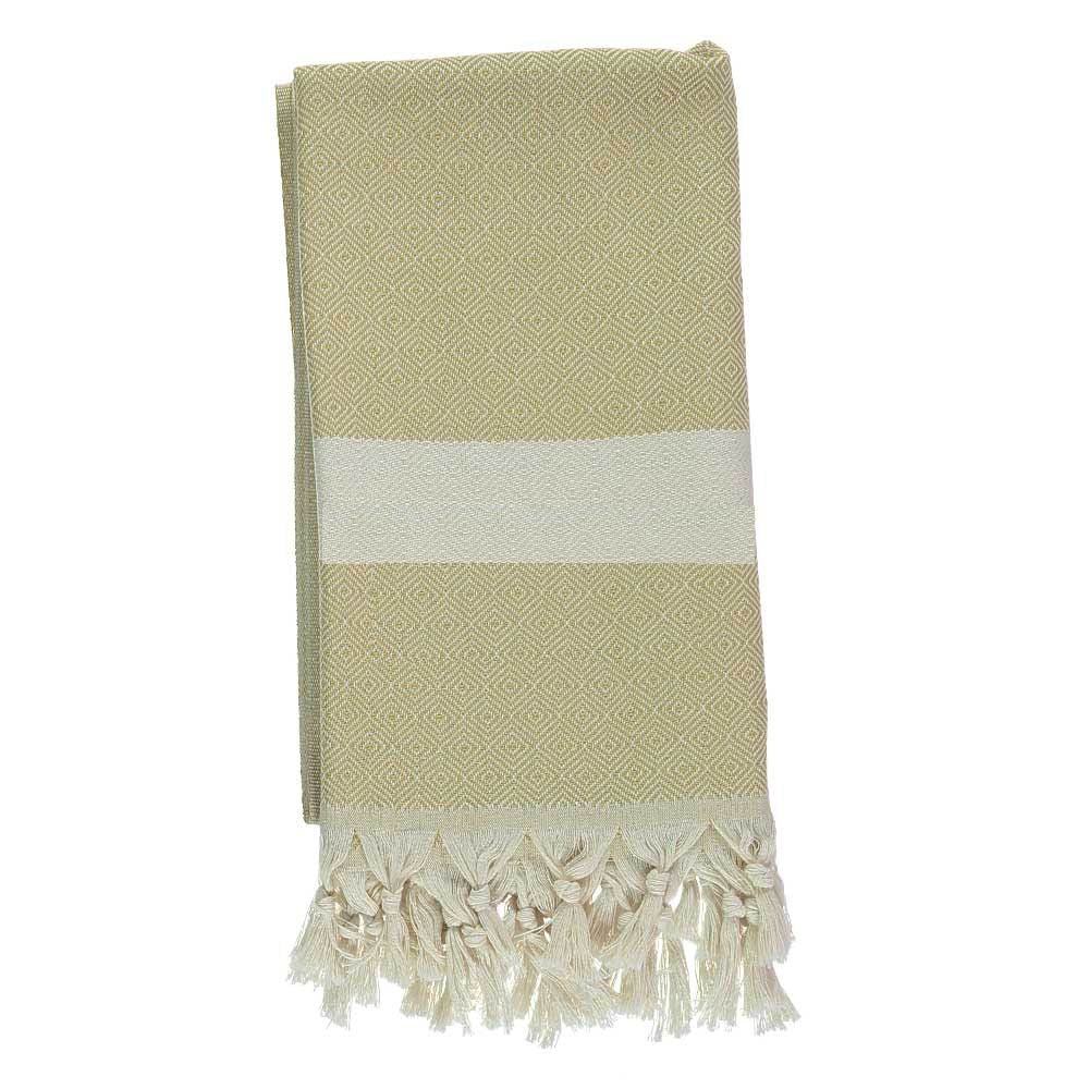 Mustard Bamboo & Cotton Turkish Towel