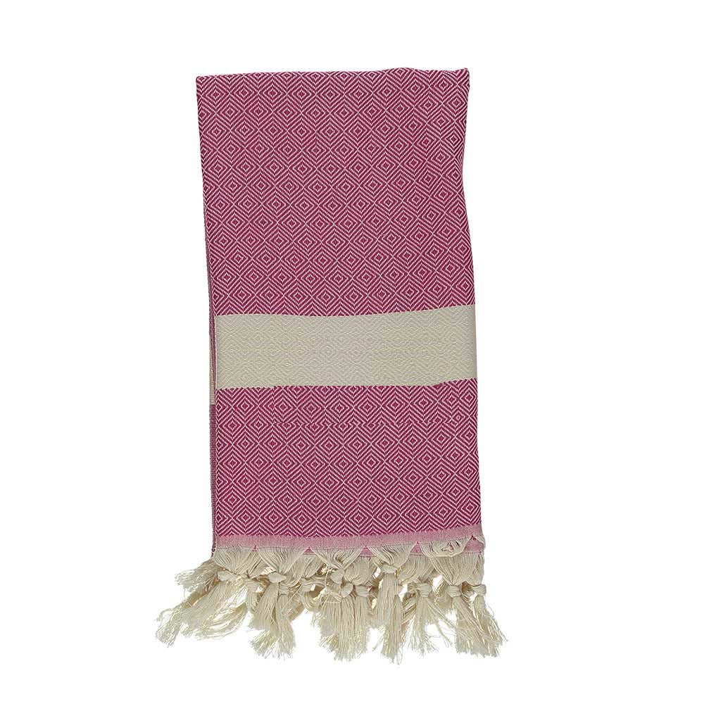 Hot Pink Bamboo & Cotton Turkish Towel
