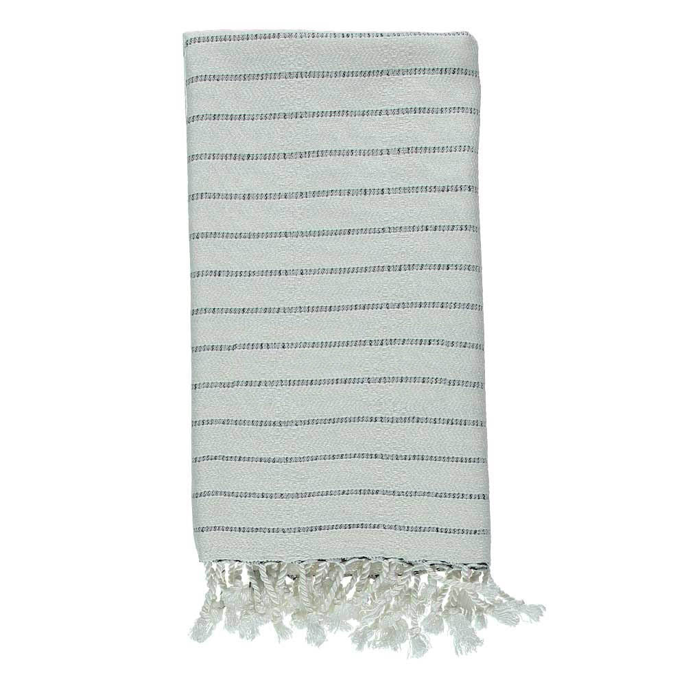 Black Stripe Mini Bath Turkish Towel