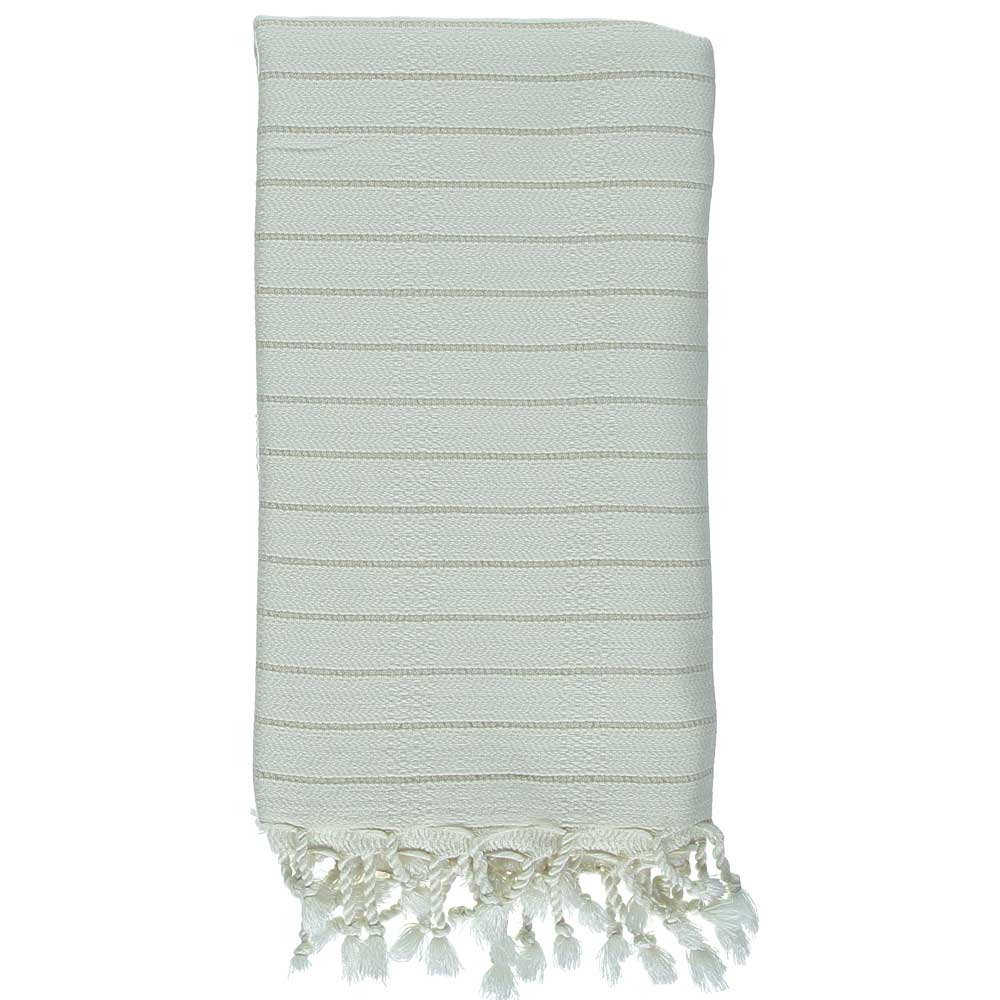 Beige Stripe Mini Bath Turkish Towel