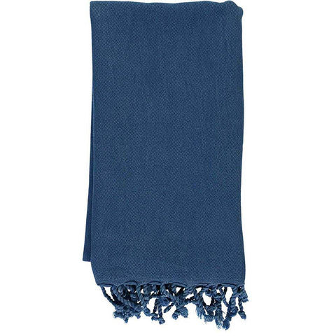 Navy Blue Stonewashed Throw