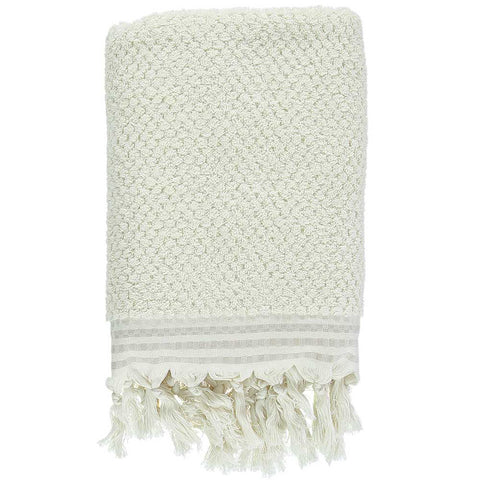 Natural Pom Pom Bath Turkish Towel