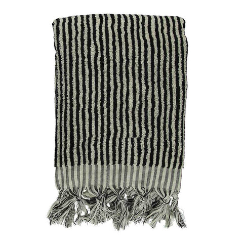 Zebra Black Bath Turkish Towel
