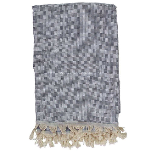 Denim Blue Diamond Throw