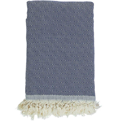 Navy Blue Diamond Throw