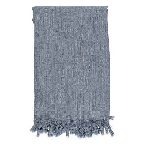 Denim Blue Stonewashed Throw
