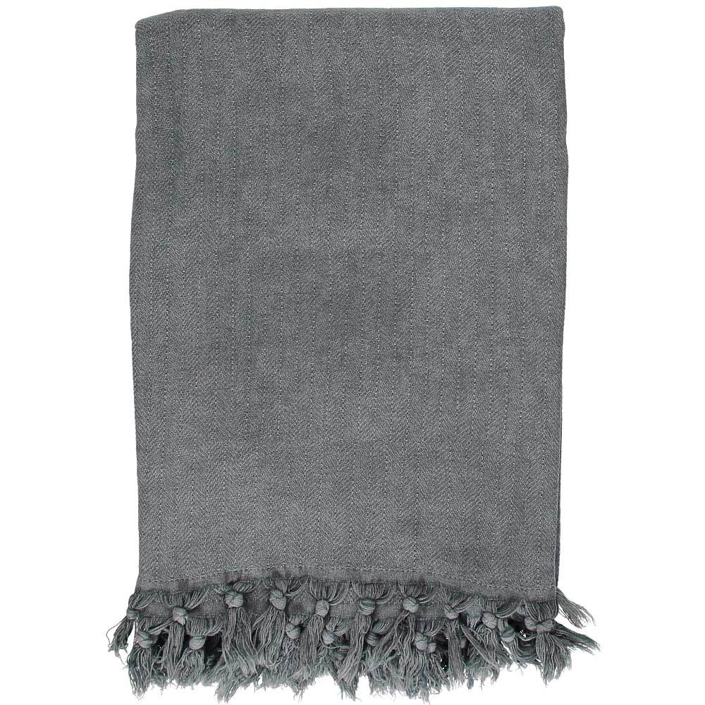Charcoal Grey Stonewashed Throw
