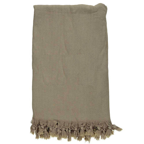 Beige Stonewashed Throw