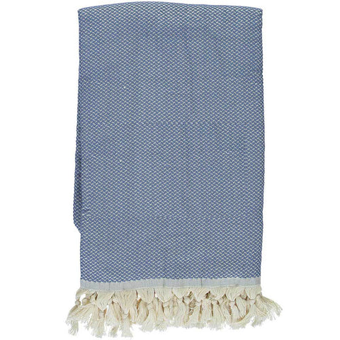 Denim Blue Crisscross Throw