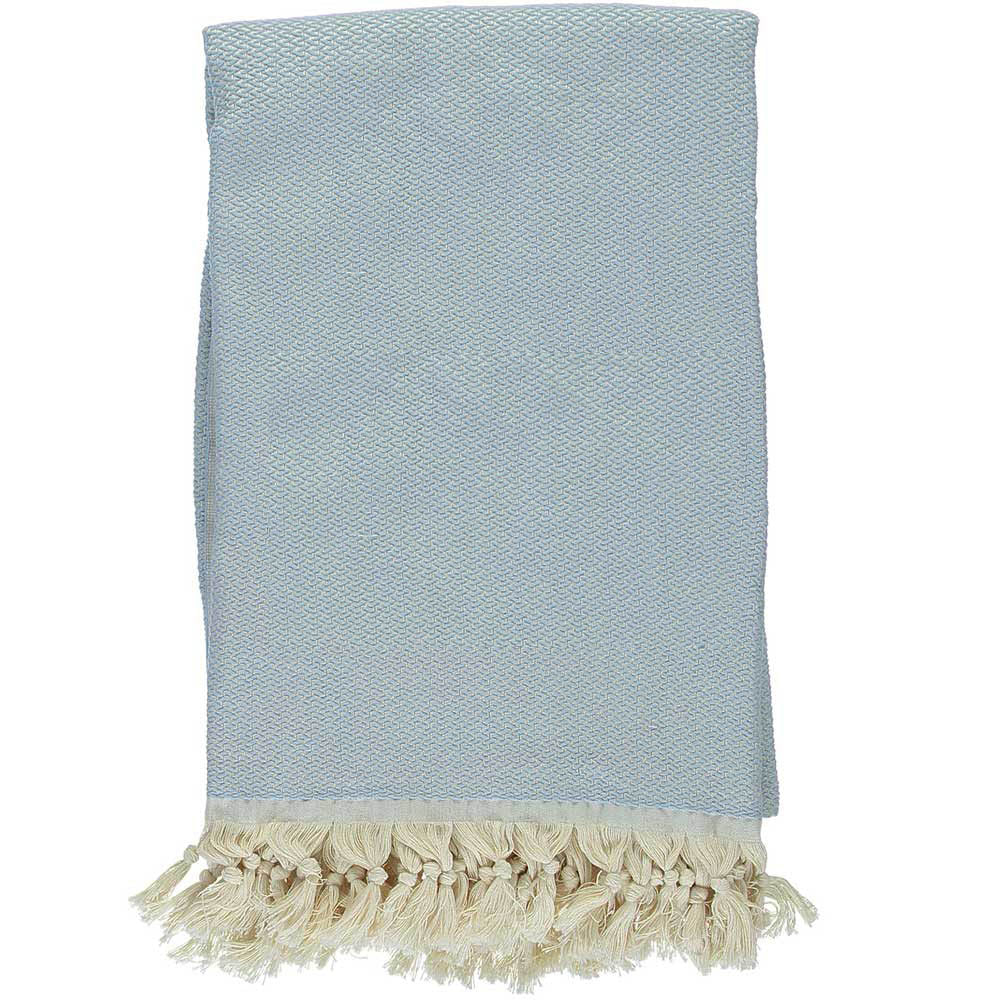 Ice Blue Crisscross Throw