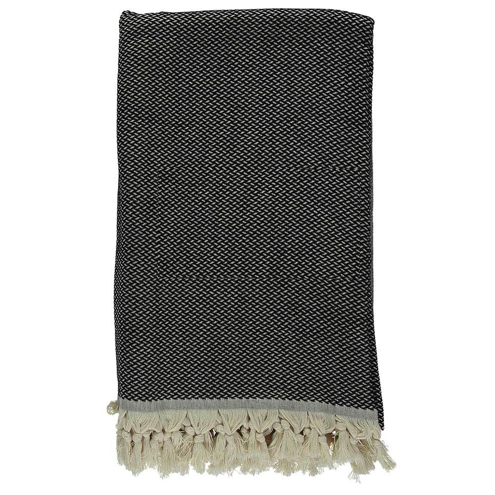Black Crisscross Throw