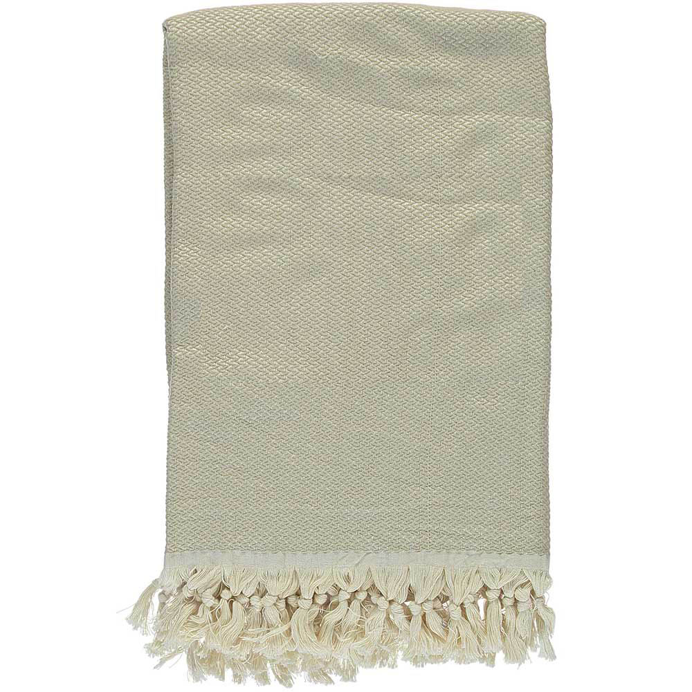 Beige Crisscross Throw