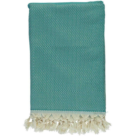 Teal Crisscross Throw