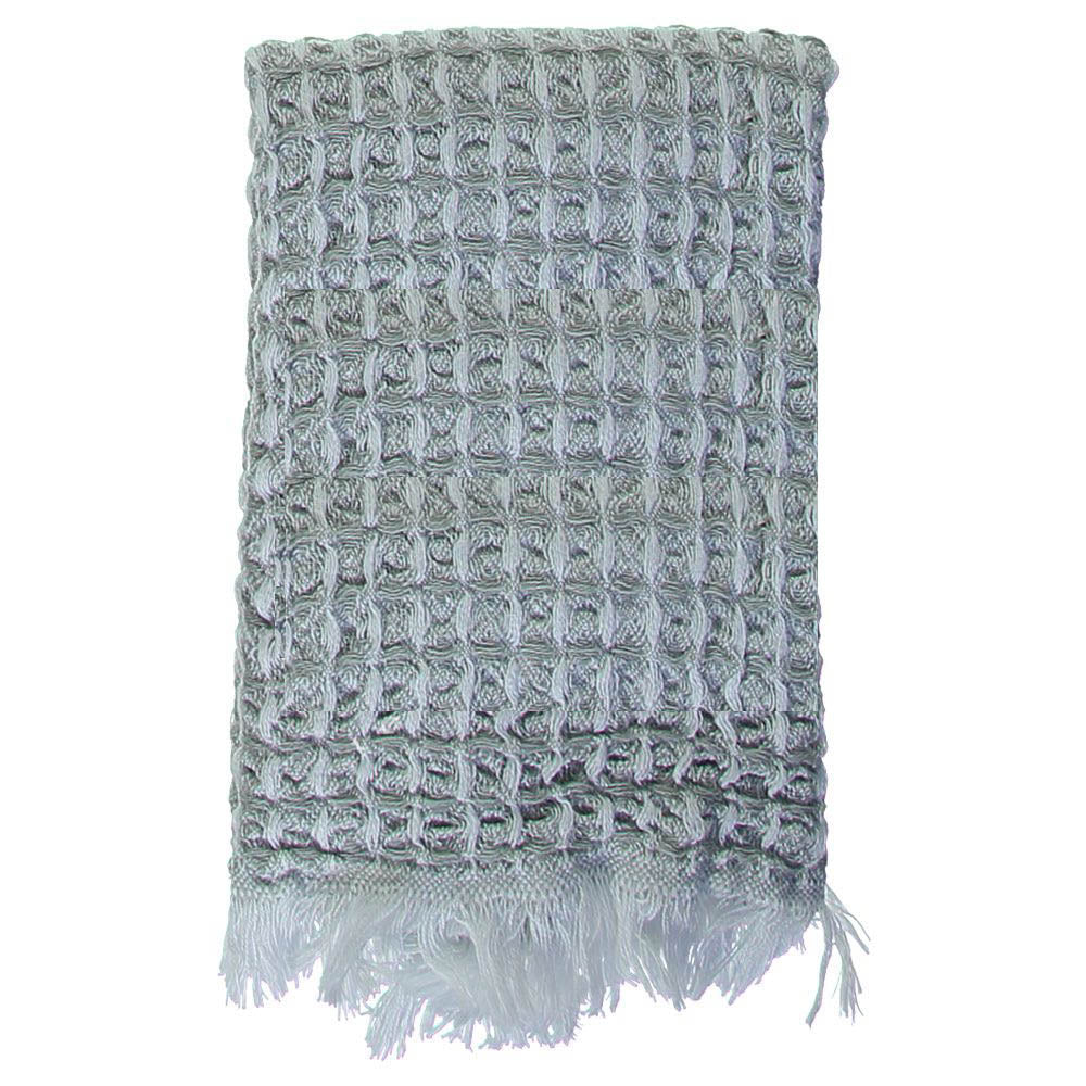 Grey Waffle Mini Bath Turkish Towel