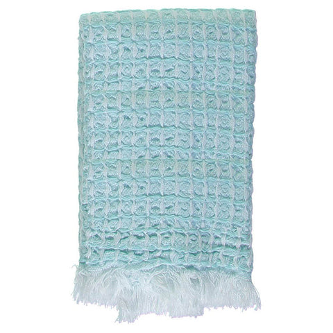 Mint Waffle Mini Bath Turkish Towel