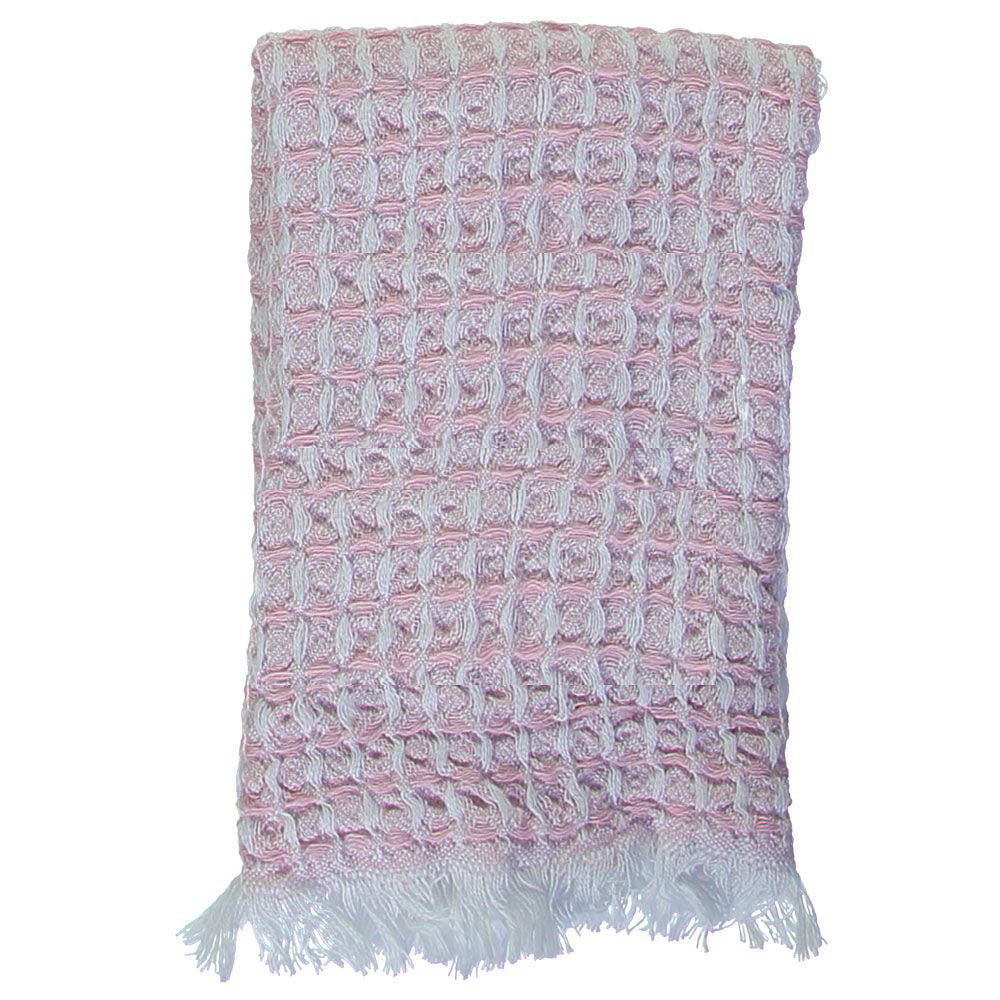 Pink Waffle Mini Bath Turkish Towel