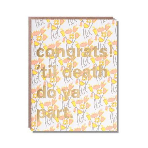 Til Death Congrats Card