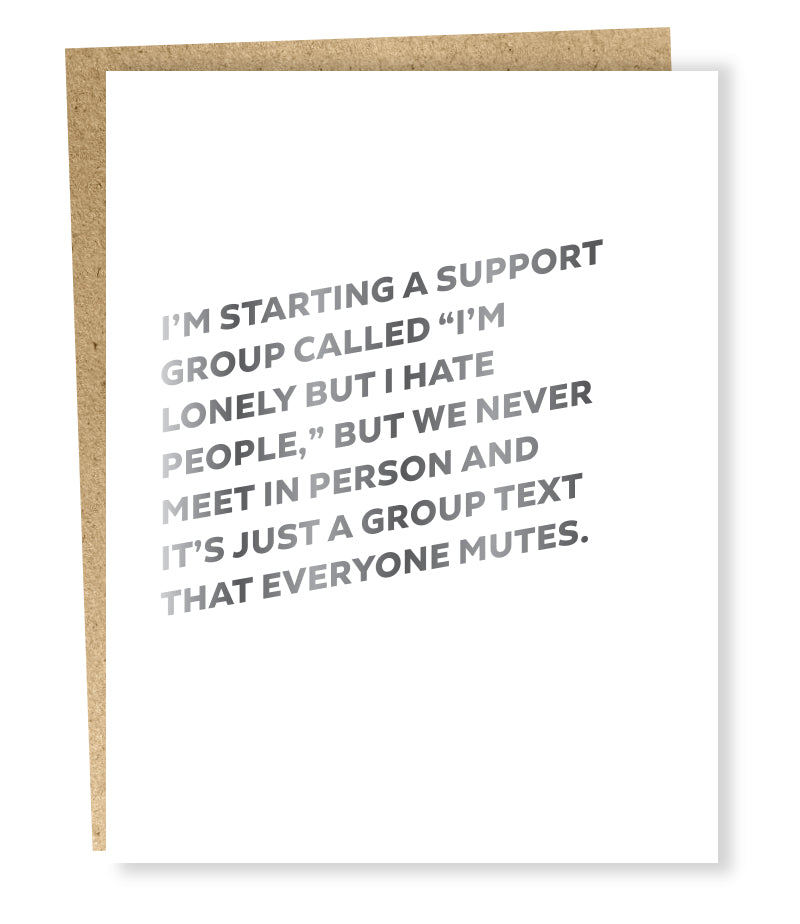 """ Support Group "" Card"