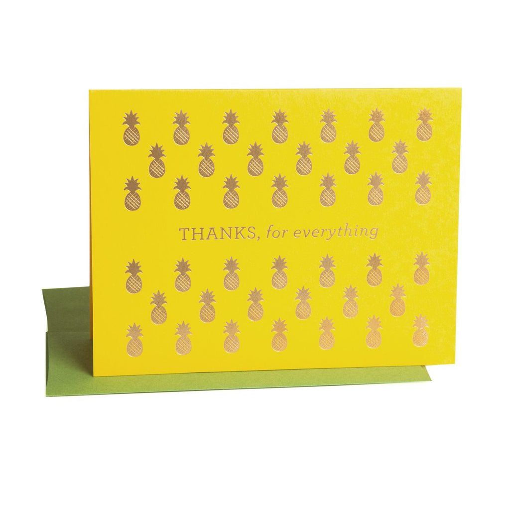 """ PINEAPPLE THANK YOU "" Card"