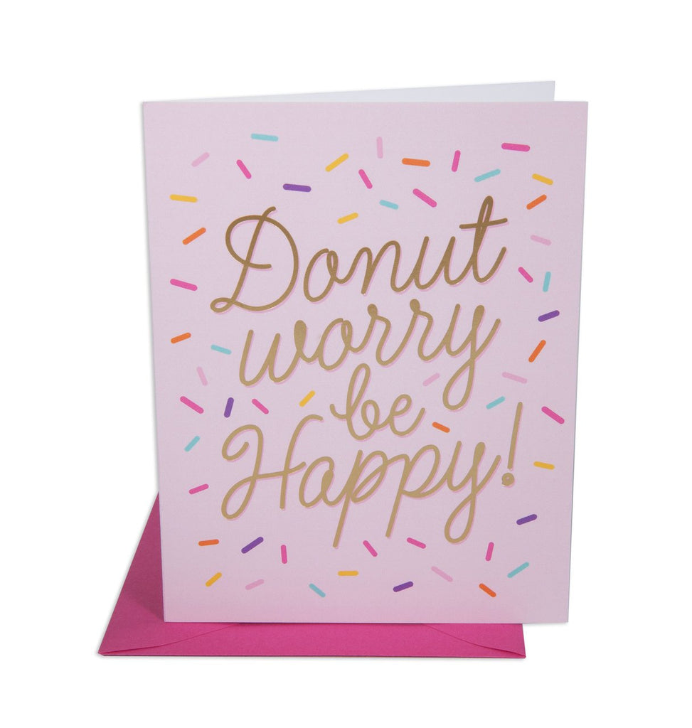 """ DONUT WORRY "" Card"