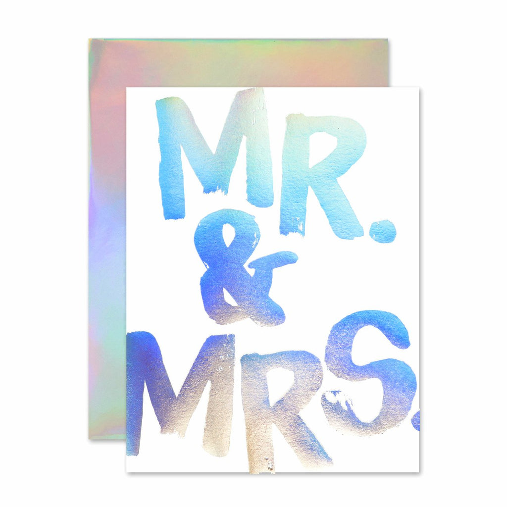""" MR. & MRS. HOLLA-GRAM "" Card"