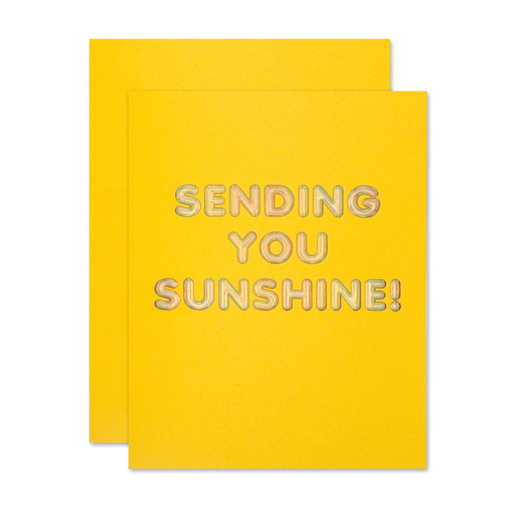 """ SENDING YOU SUNSHINE "" Card"