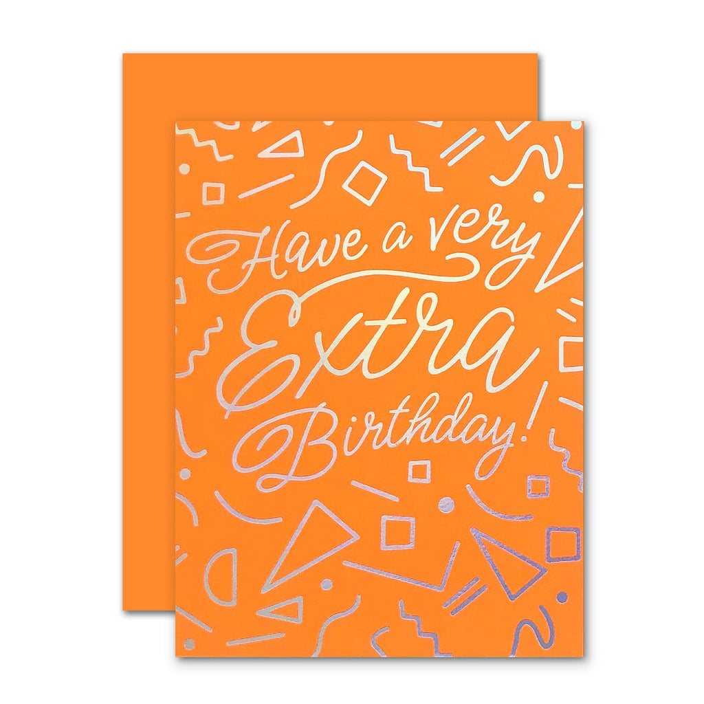 """ Extra Birthday "" Card"