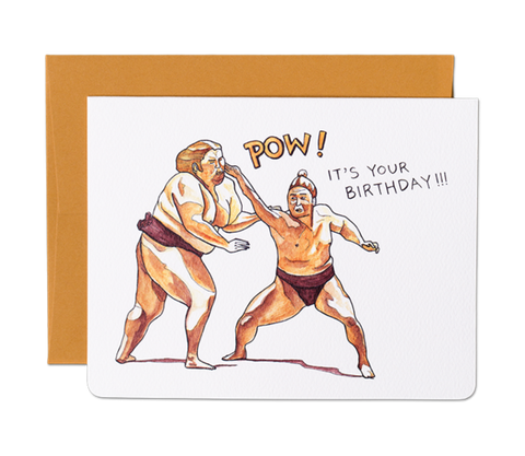 """ Birthday Pow "" Card Greeting Cards - Thorn and Burrow"