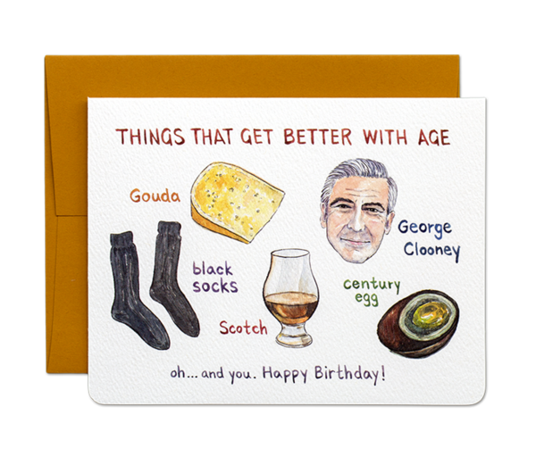 """ Better With Age "" Card Greeting Cards - Thorn and Burrow"