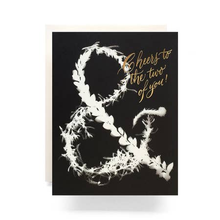 """ Sunprint Ampersand "" Card"