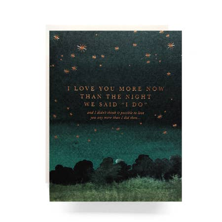""" The Night We Said I Do "" Card"