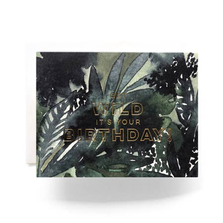 """ Wild Birthday "" Card"