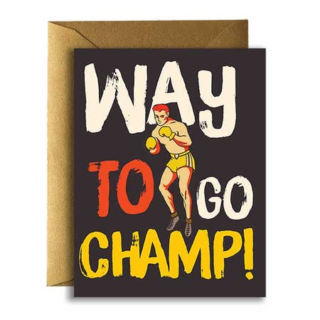 """ Congrats Champ "" Card"