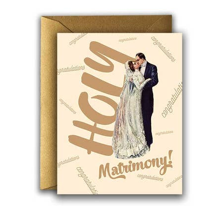 """ Wedding Holy Matrimony! "" Card"
