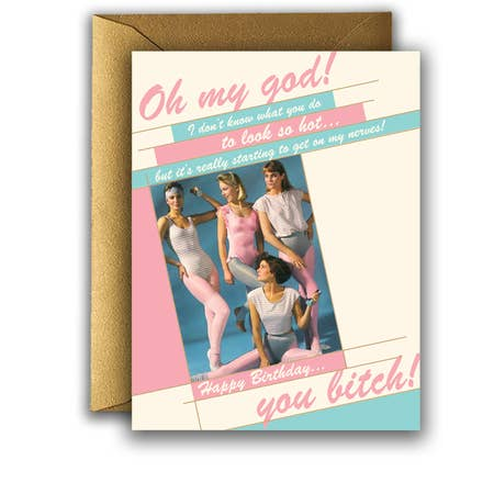 """ 80's Girls "" Card"