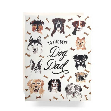 """ Best Dog Dad "" Card"