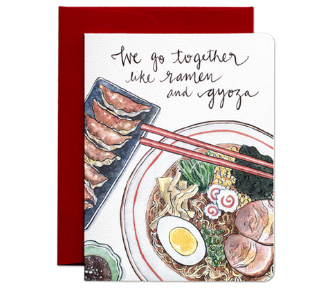 """ Ramen & Gyoza "" Card Greeting Cards - Thorn and Burrow"