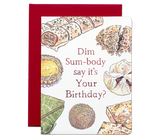 """ Dim Sum "" Card Greeting Cards - Thorn and Burrow"