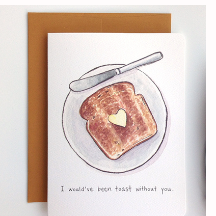 """ Thankful Toast "" Card Greeting Cards - Thorn and Burrow"