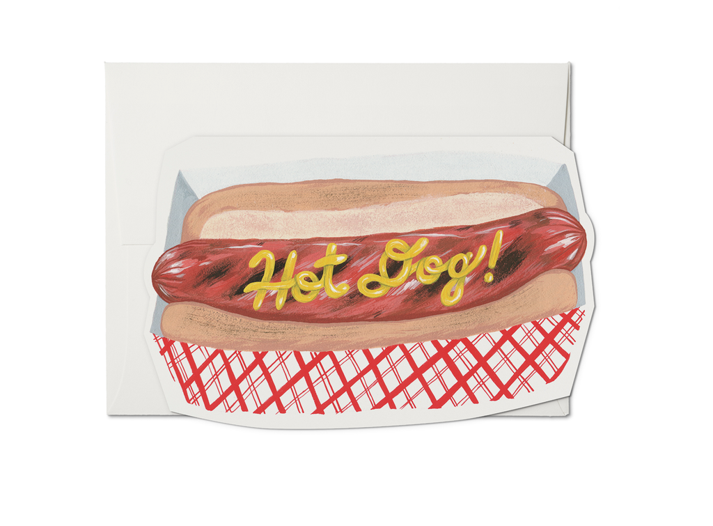 """ Hot Dog "" Card"